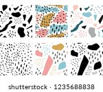 geometric memphis abstract... | Shutterstock .eps vector #1235688838