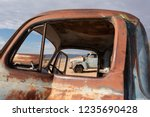 close up of old antique rusty... | Shutterstock . vector #1235690428