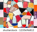 Abstract Multicolored Mosaic...