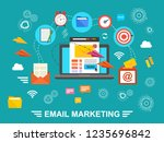 concept of running email... | Shutterstock .eps vector #1235696842