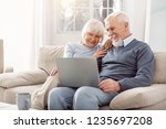 have a look. grey haired... | Shutterstock . vector #1235697208