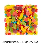 mixed colorful candies. color... | Shutterstock . vector #1235697865