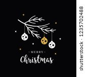 merry christmas greeting text... | Shutterstock .eps vector #1235702488