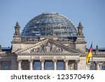the roof of reichstag building...