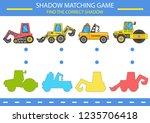 children game. kids shadow... | Shutterstock .eps vector #1235706418