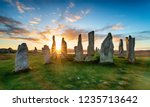 Sunset Over The Stone Circle At ...