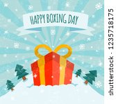 happy boxing day sale design... | Shutterstock .eps vector #1235718175