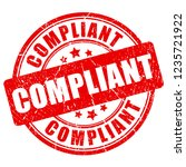 compliant vector stamp isolated ... | Shutterstock .eps vector #1235721922