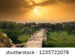 sunset at justinianus bridge  ...   Shutterstock . vector #1235722078