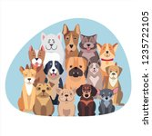 concept of purebred dogs. ... | Shutterstock . vector #1235722105