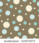 Seamless  Color Polka Dot...