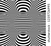 optical illusion lines... | Shutterstock .eps vector #1235726995