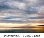 beautiful minimal ocean view...   Shutterstock . vector #1235731285
