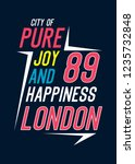 london city of pure joy and... | Shutterstock .eps vector #1235732848