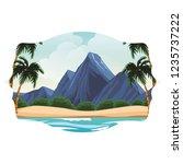 beach and island scenery | Shutterstock .eps vector #1235737222