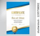 certificate design  creative...   Shutterstock .eps vector #1235738002