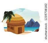 beach and island scenery | Shutterstock .eps vector #1235738182