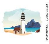 beach and island scenery | Shutterstock .eps vector #1235738185