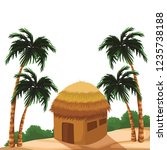 beach and island scenery | Shutterstock .eps vector #1235738188