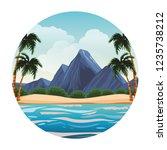 beach and island scenery | Shutterstock .eps vector #1235738212