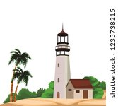 beach and island scenery | Shutterstock .eps vector #1235738215