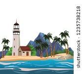 beach and island scenery | Shutterstock .eps vector #1235738218