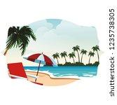 beach and island scenery | Shutterstock .eps vector #1235738305
