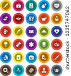 white solid icon set  pills... | Shutterstock .eps vector #1235747062