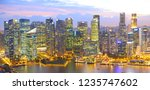 panoramic view of singapore at... | Shutterstock . vector #1235747602
