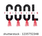 slogan cool fashion trend for t ... | Shutterstock .eps vector #1235752348
