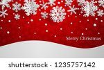 christmas illustration with... | Shutterstock . vector #1235757142