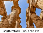 columns and blue sky in the... | Shutterstock . vector #1235784145