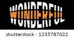 wonderful slogan  t shirt... | Shutterstock .eps vector #1235787022