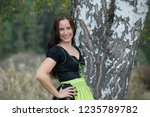 brunette in german national... | Shutterstock . vector #1235789782