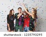 corporate party happy friends...   Shutterstock . vector #1235793295