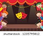 vector illustration of children ... | Shutterstock .eps vector #1235795812