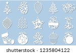 set of modern christmas tree.... | Shutterstock .eps vector #1235804122