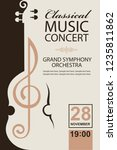 classical music concert poster... | Shutterstock .eps vector #1235811862