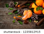 the atmosphere of christmas and ... | Shutterstock . vector #1235812915