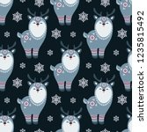 christmas seamless pattern with ... | Shutterstock .eps vector #1235815492
