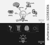 the big idea diagram graphic... | Shutterstock .eps vector #123583306