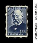 romania   circa 1960  postal... | Shutterstock . vector #1235854558