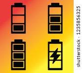battery charging set filled   Shutterstock .eps vector #1235856325