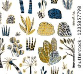 creative seamless pattern with... | Shutterstock . vector #1235857798
