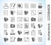 document icon set  paper and... | Shutterstock .eps vector #123586828