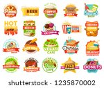 fast food vector icons and... | Shutterstock .eps vector #1235870002