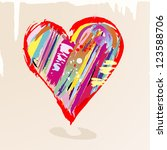 Love Concept  Colorful Heart...