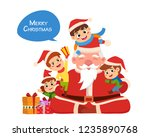 party christmas card invite all ... | Shutterstock .eps vector #1235890768