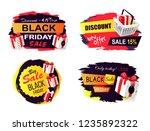 black friday sale promo... | Shutterstock .eps vector #1235892322