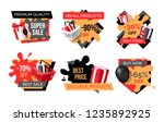 special promotion on exclusive... | Shutterstock .eps vector #1235892925